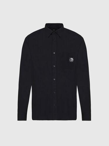 Poplin shirt with Mohawk patch