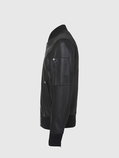 Diesel - L-JOSEPH, Black - Leather jackets - Image 3