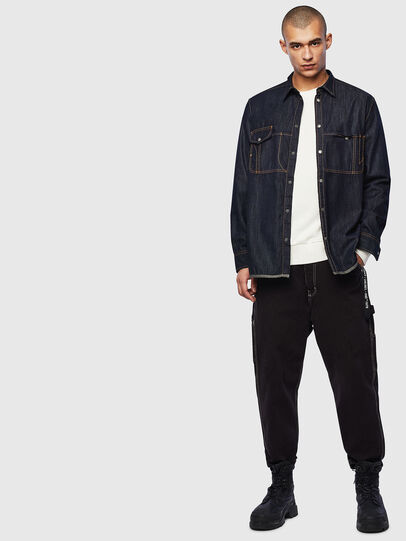 Diesel - D-MILLY, Dark Blue - Denim Shirts - Image 7