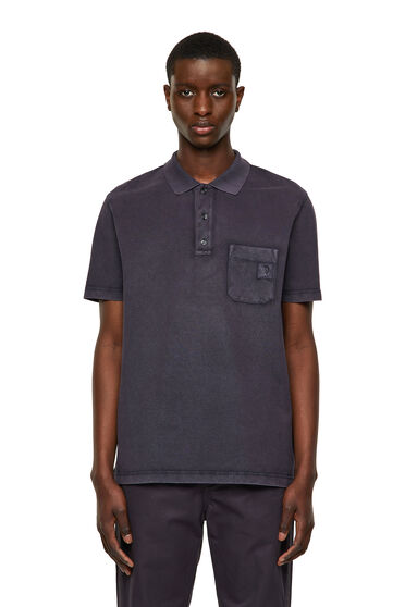 Polo shirt in washed cotton
