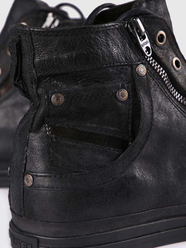Diesel - EXPO-ZIP, Black Leather - Sneakers - Image 5