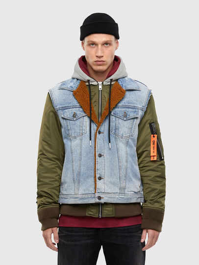 Diesel - W-STORMY, Blue/Green - Winter Jackets - Image 1