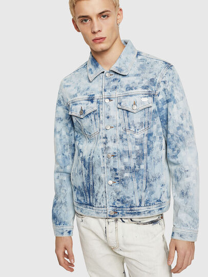 Diesel - NHILL, Light Blue - Denim Jackets - Image 1