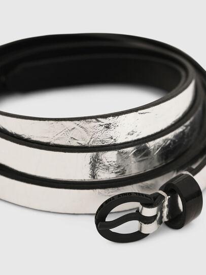 Diesel - B-EVER, Silver - Belts - Image 2