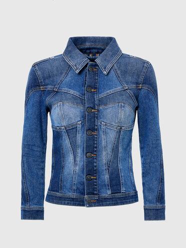 Corset-effect trucker jacket
