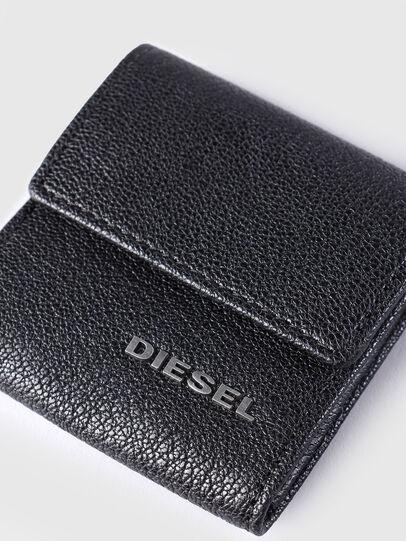 Diesel - KOPPER, Black Leather - Small Wallets - Image 3