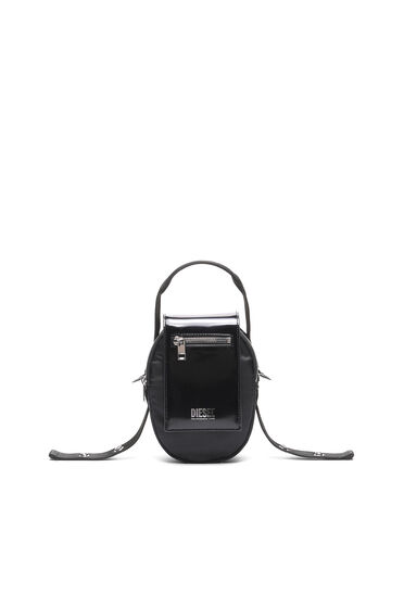 Small cross-body in nylon and leather
