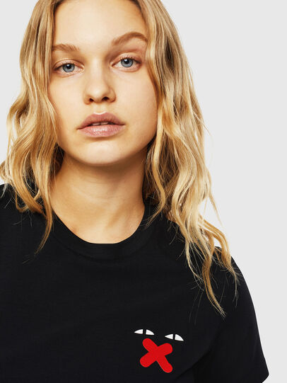 Diesel - UFTEE-SILY-INT, Black - T-Shirts - Image 3