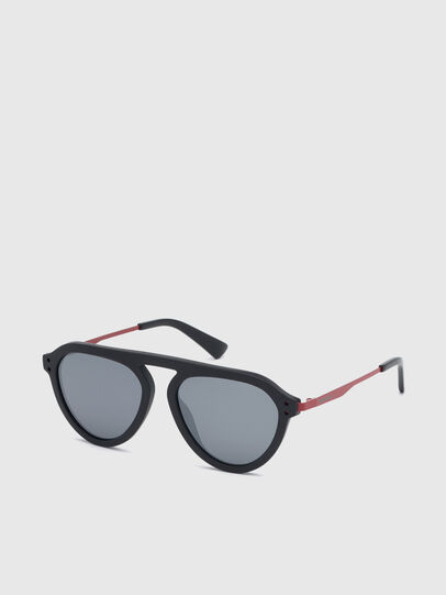Diesel - DL0277, Black/Red - Sunglasses - Image 2