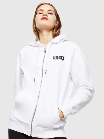 Diesel - S-GIRK-HOOD-ZIP-LOGO, White - Sweaters - Image 6