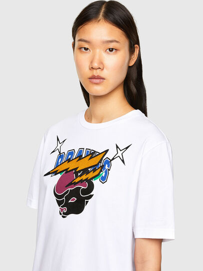 Diesel - CL-T-JUST-O1, White - T-Shirts - Image 6