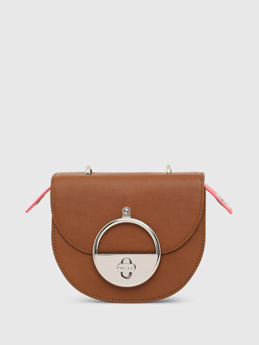 Saddle cross-body in vintage leather