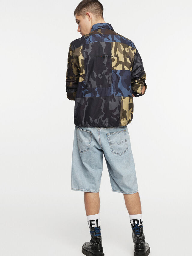 Diesel - J-SYNTHY, Green Camouflage - Jackets - Image 4