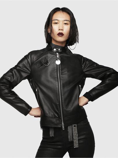 Diesel - L-SUZ,  - Leather jackets - Image 1