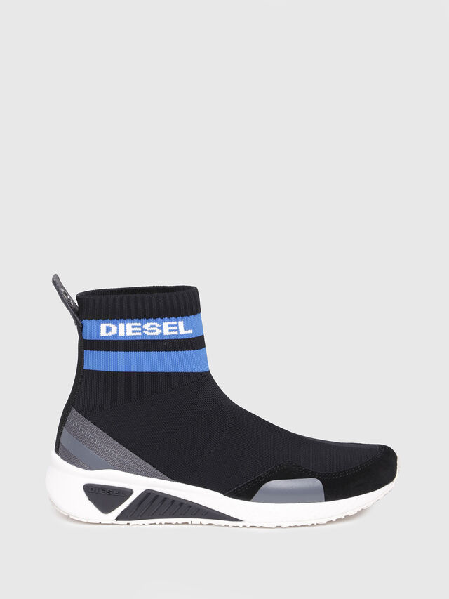 Diesel - S-KB SOCK W, Black/Blue - Sneakers - Image 1