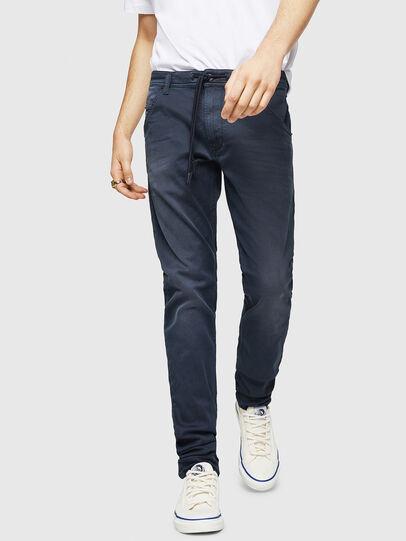 Diesel - Krooley Long JoggJeans 0670M, Dark Blue - Jeans - Image 1