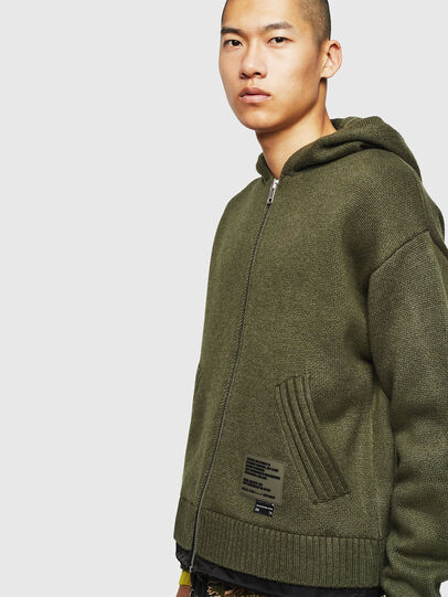 Diesel - K-NAVY, Military Green - Knitwear - Image 4