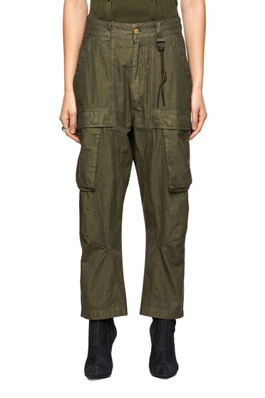 Cargo pants in cotton blend