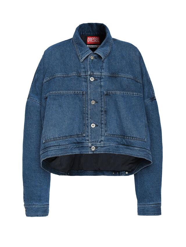 Diesel - SOJK02, Dark Blue - Jackets - Image 1