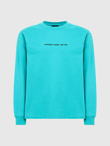 Long-sleeve T-shirt with logo embroidery