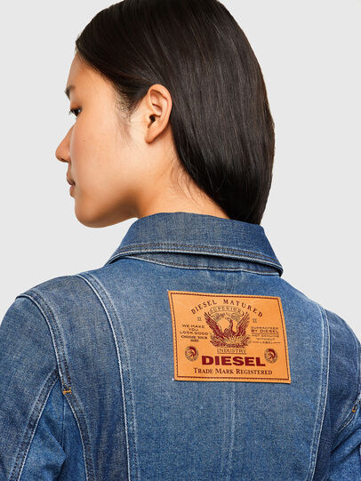 Diesel - DE-JYBRA, Medium blue - Denim Jackets - Image 4
