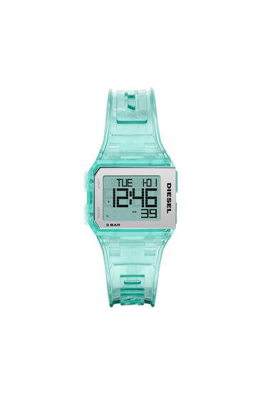 Chopped Digital Millennial Mint Transparent Watch