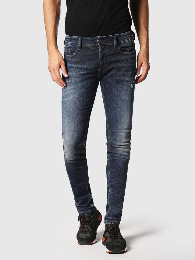 Diesel - Sleenker 084JM, Dark Blue - Jeans - Image 1