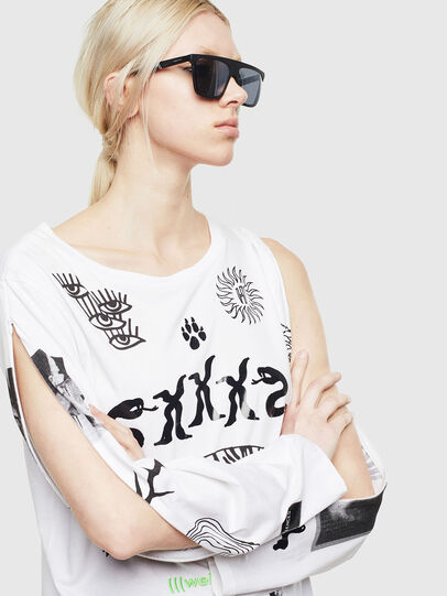Diesel - T-ROSY-A, White - T-Shirts - Image 4