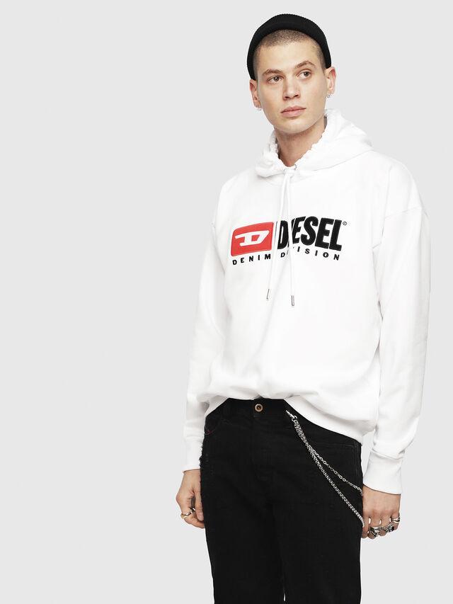2fd4d2e6 S-DIVISION Men: Hooded sweatshirt with 90's Diesel logo | Diesel