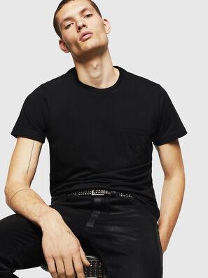 T-DIEGO-POCKET-B1, Black - T-Shirts