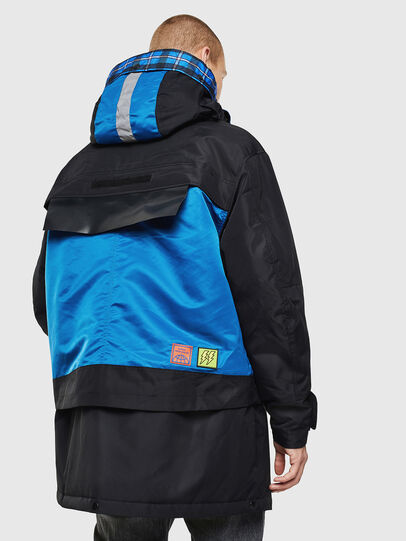 Diesel - W-HELBERT, Black/Blue - Winter Jackets - Image 2