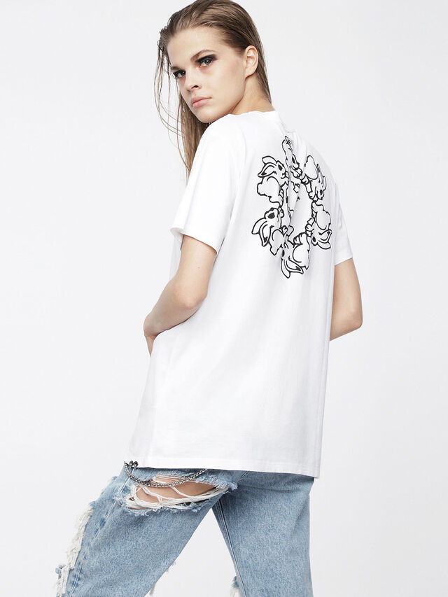 Diesel - T-DARIA, White - T-Shirts - Image 2