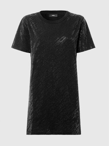 T-shirt dress with micro studs
