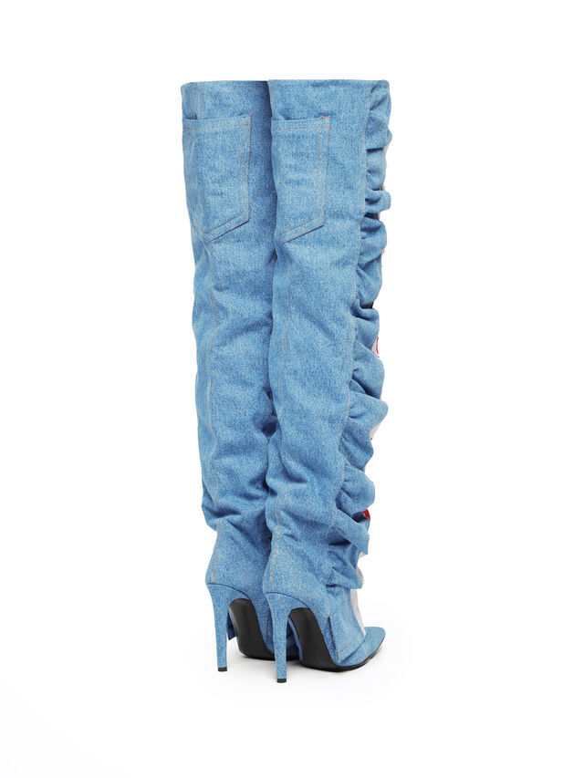Diesel - SOHIGHBOOT, Light Blue - Boots - Image 3