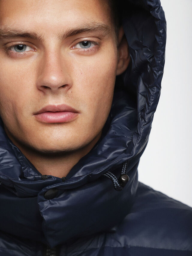 Diesel - W-SMITH-A, Blue - Winter Jackets - Image 3