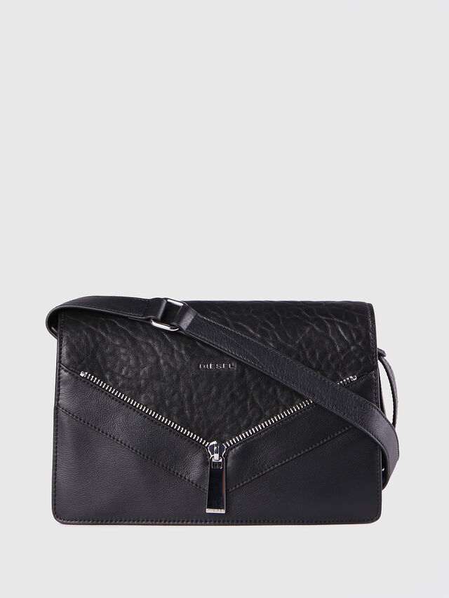 Diesel LE-MISHA, Black Leather - Crossbody Bags - Image 1