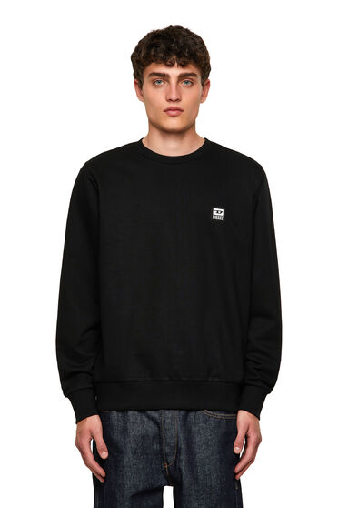 Sweatshirt with D logo patch