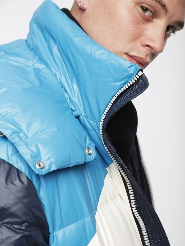 Diesel - W-SMITH, Multicolor/Blue - Winter Jackets - Image 4