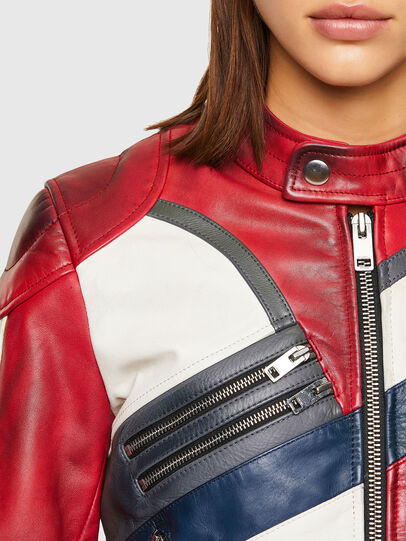Diesel - L-POLLY, Red - Leather jackets - Image 4