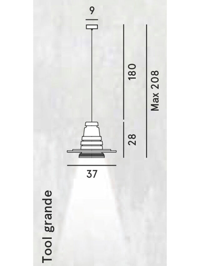 Diesel - TOOL GRANDE SOSP, Black - Hang Lighting - Image 2