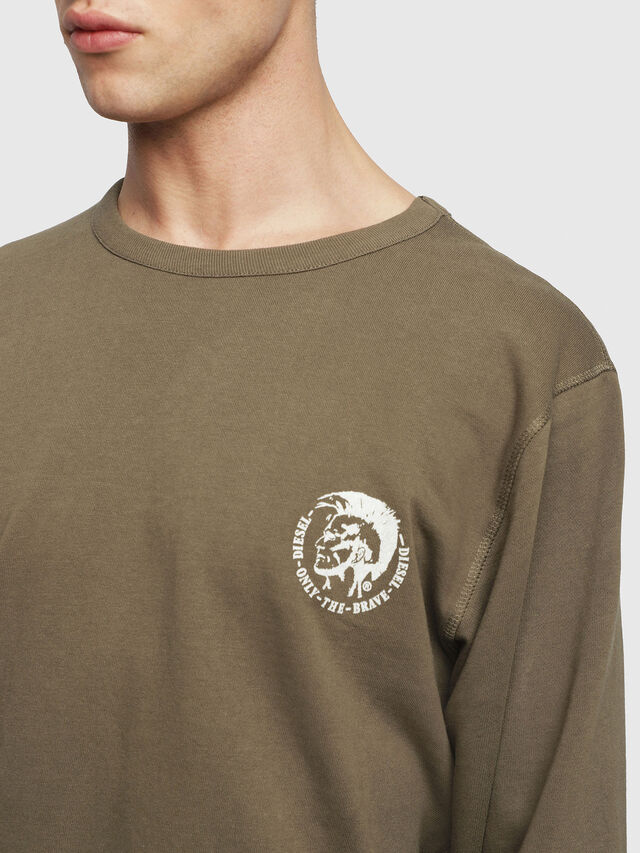 Diesel - UMLT-WILLY, Military Green - Sweaters - Image 3
