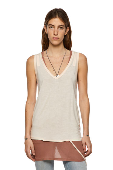 Green Label double-layer tank top