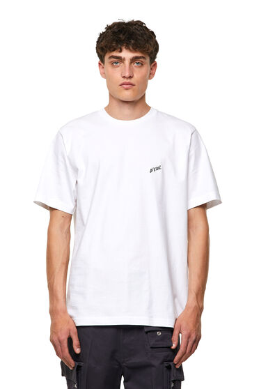 Cotton T-shirt with palm print