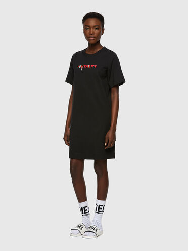 T-shirt dress with Youthility print