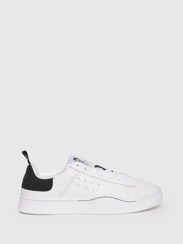 Diesel - S-CLEVER LOW W, White/Black - Sneakers - Image 1