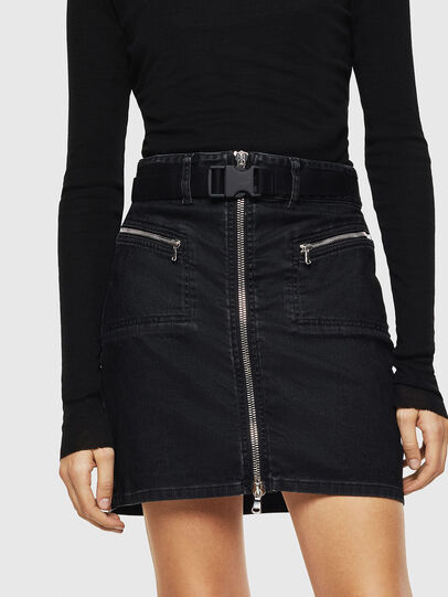 Diesel - OSILKA, Black - Skirts - Image 1