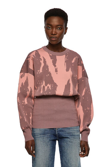 Jacquard pullover with fitted hem