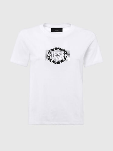 T-shirt with double logo print