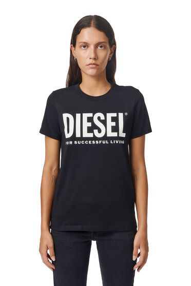 T-shirt with PVC lettering and slogan