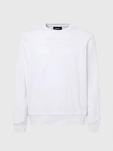 Cotton sweatshirt with front yoke